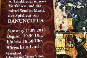 Plakat Weinprobe Lorch