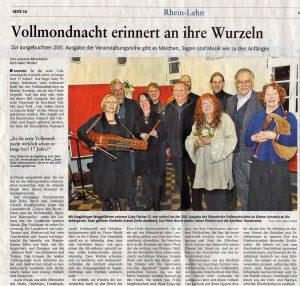 Bericht aus der Rheinzeitung vom 26. März 2019, geschrieben von Karl-Heinz Wolter.